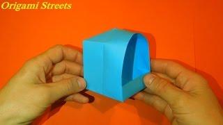 Как сделать домик из бумаги. Оригами домик.
