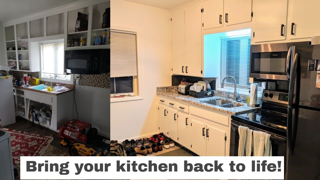 Reno Recap: Hardware Replacement, Cabinet Refinishing, And Counter Top  Replacement