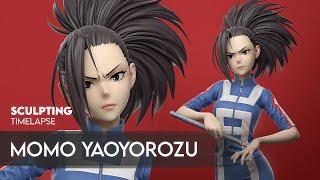 Sculpting Momo Yaoyorozu Process Timelapse