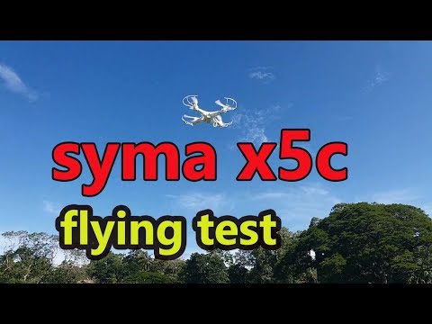 Syma x5c-1 RC Quadcopter Drone Flying Test with HD Camera