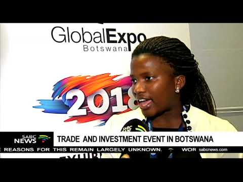 Bonolo Mosime wins award at a trade, investment event in Botswana