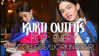 Download Kurti Outfits For EVERY College/Working Girl! | Komal Pandey Mp3 and Videos
