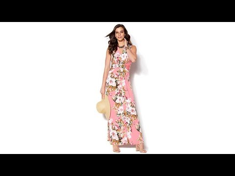 9a5970f6880 IMAN Global Chic Luxury Resort Knockout Maxi Dress and N... - YouTube