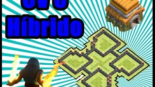 LAYOUT HIBRIDO CV 6 - ''2016'' - BEST BASE HIBRIDE TH6 - CLASH OF CLANS