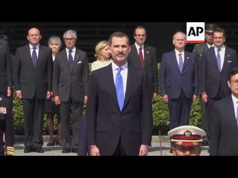 Spain's King visits Japanese Emperor
