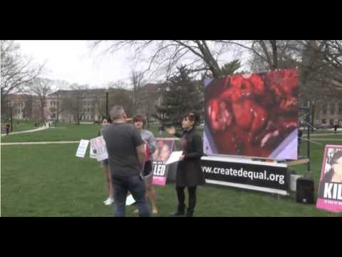 "The Columbus Dispatch: ""Group brings graphic abortion video to Ohio State's Oval"""
