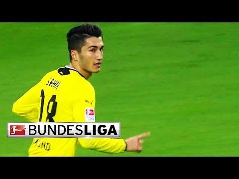 Dortmund's Sahin Scores a Brilliant Free Kick vs. Augsburg in 2014