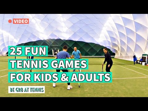 25 Fun Tennis Games for Groups of Kids and Adults