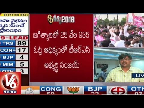 TRS Candidate Sanjay Kumar Won Jagtial Assembly Seat | TS Assembly Results | V6 News