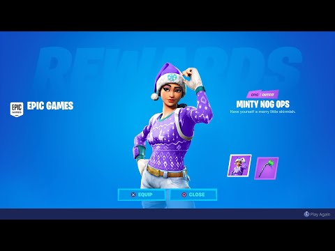 HOW TO GET NEW MINTY NOG OPS SKIN IN FORTNITE! NEW FORTNITE MINTY NOG OPS SKIN! FORTNITE NOG OPS