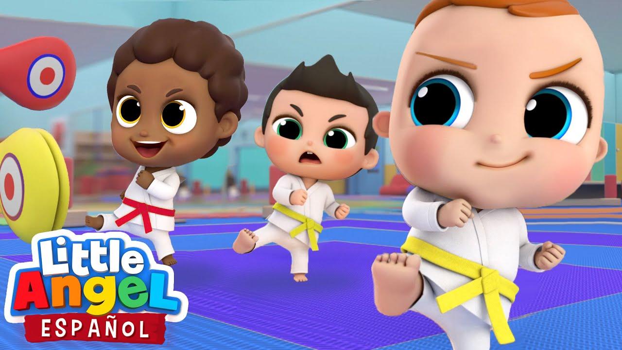 Bebé Juan aprende Karate 🥋 | Canciones Infantiles | Little Angel en Español