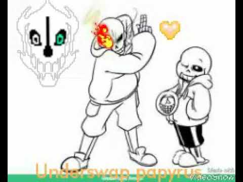 Coloring Page Of Undertale Sans And Underswap Papyrus Youtube