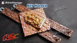 How To: Make Ganpati Mural Wall Key Holder -  Jk Arts 498