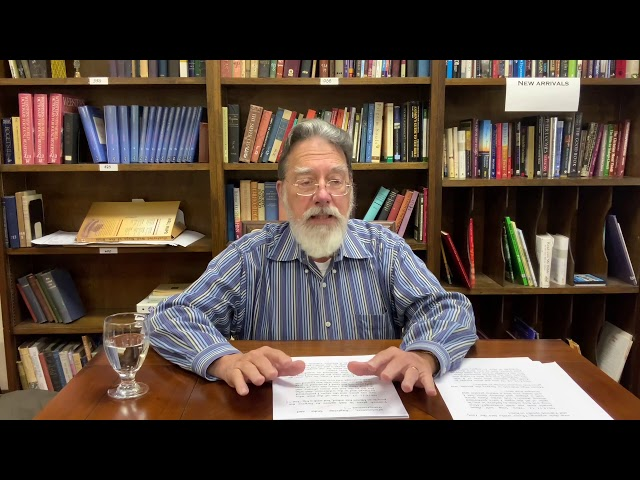 Bible Study with Bill Stahl   Week 26 Lev/Num/Deut Part 2