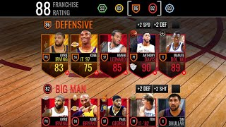 MY FINAL RARE LEGACY LINEUP!! 88 FRANCHISE RATING | NBA LIVE MOBILE!