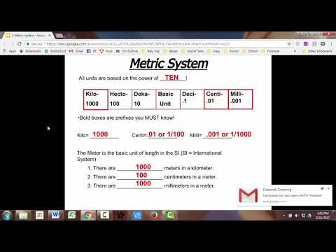 SC 7/8 - Introduction to Metric System