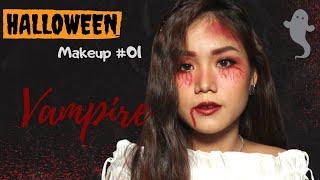 Halloween Makeup #01: Vampire ♡ Trang điểm Halloween đơn giản cùng Vy Penwie Tập 01