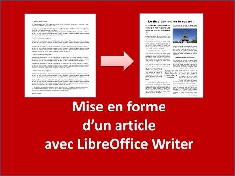 Mise en forme d'un article de journal avec LibreOffice Writer