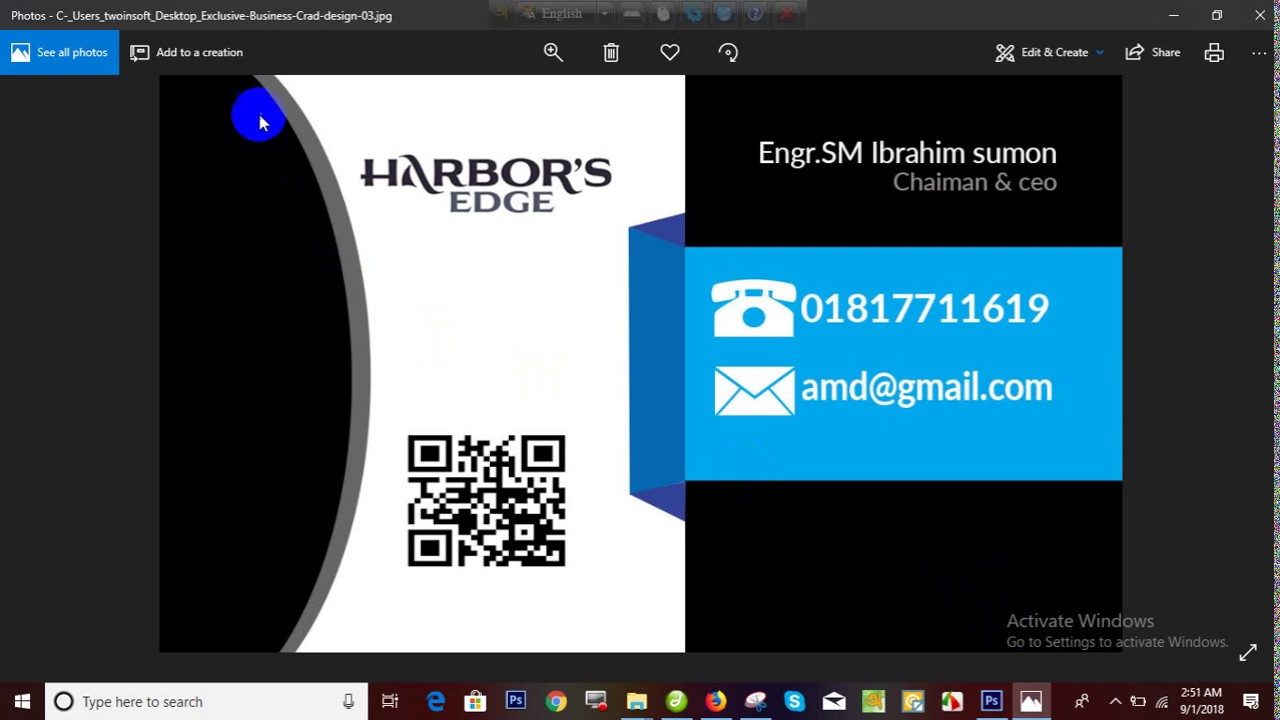 how to design exclusive business card =Engineer sm ibrahimsumon