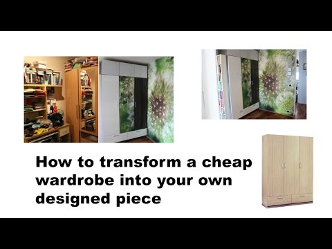 DIY How to transform a cheap wardrobe into your own designed piece