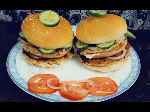 Chicken Kabab Burger Recipe 🍔   Extremely Delicious 😋   