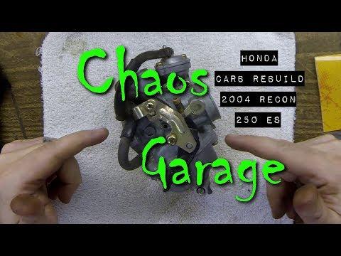 Honda Carb Rebuild – 2004 Recon 250 ES *CORRECTED-See Description*
