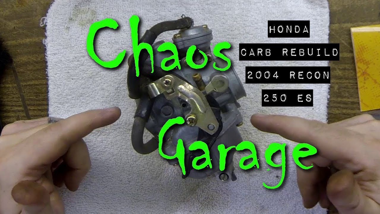 Honda Carb Rebuild 2004 Recon 250 Es Corrected See Description