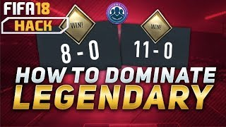 HOW TO BEAT DOMINATE LEGENDARY SQUAD BATTLES FIFA 18 TUTORIAL! | ZO METAL |