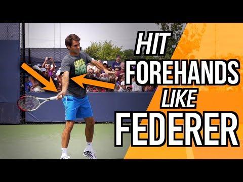 HIT YOUR FOREHAND LIKE ROGER FEDERER - TENNIS LESSON