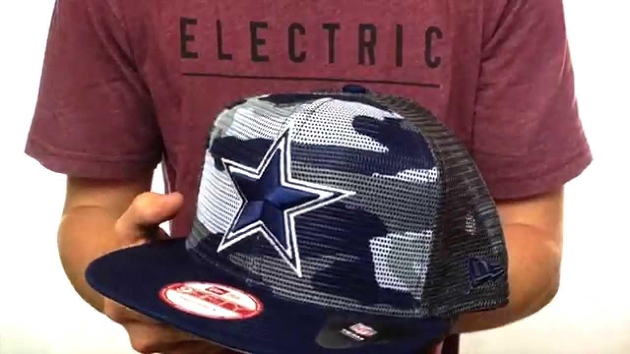 Cowboys  TC CAMO-MESH SNAPBACK Hat by New Era - YouTube 3306cb864