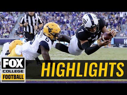 West Virginia vs TCU   Highlights   FOX COLLEGE FOOTBALL