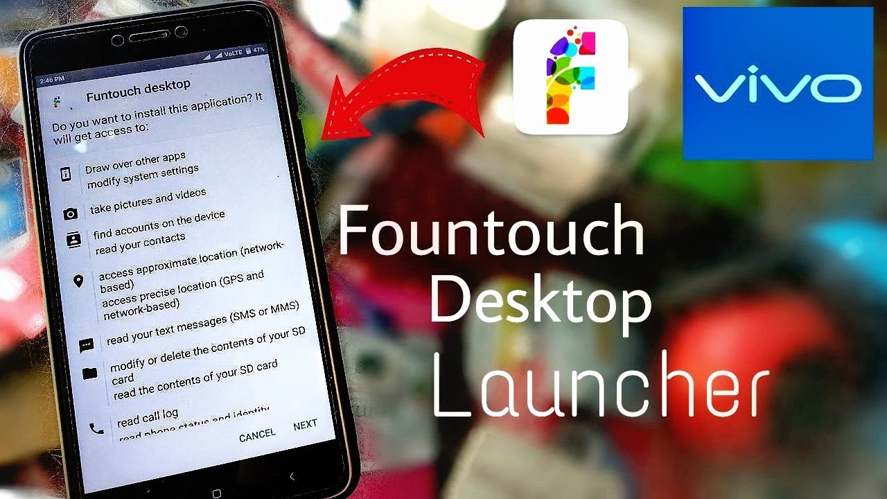 100 % Real Vivo Fountouch Desktop Launcher For Android