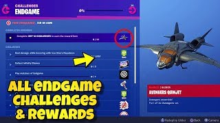 'NOUVEAU' Fortnite Avengers Endgame Challenges ' Récompenses Showcased! AVENGERS QUINJET GLIDER Fortnite