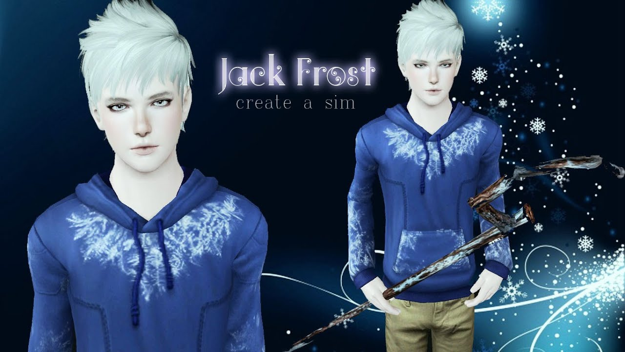 Jack Frost [Create a sim] - Sims 3 - YouTube