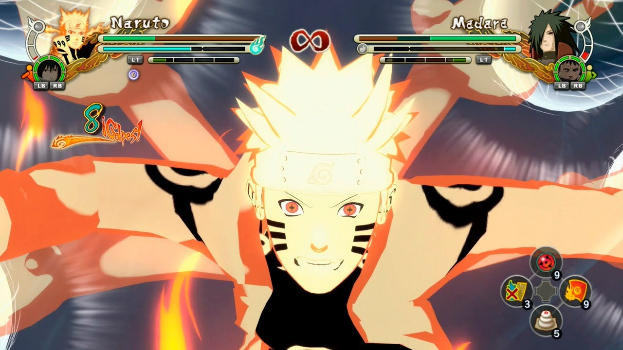 Naruto Shippuden Ultimate Ninja Storm 3 Full Burst MODS Naruto Kurama Sage  Six Paths Mode vs Madara
