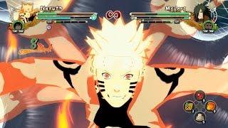 Naruto Shippuden Ultimate Ninja Storm 3 Full Burst MODS Naruto Kurama Sage Six Paths Mode vs Madara