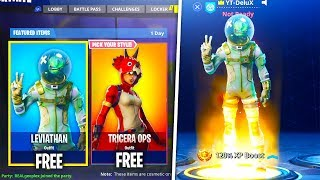 """How To DOWNLOAD FREE NEW LEAKED """"SKINS"""" in FORTNITE! - Leviathan, Tomatohead, & Tricera Ops"""