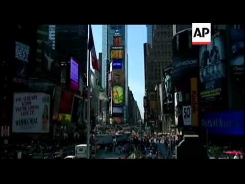 China's state news agency lights up Times Square with a new billboard. Xinhua takes its place among