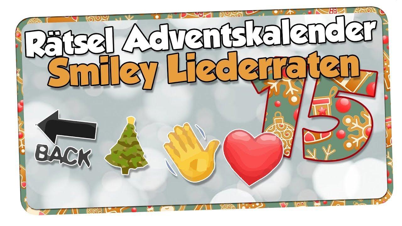 Weihnachtslieder als Smileys | NerdDings Rätsel Adventskalender ...
