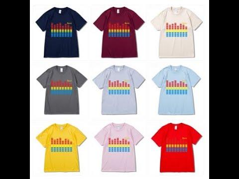 el electro luminescent animated light up flashing sound music led t shirts wholesale custom