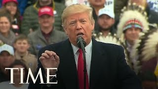 President Trump Calls Out Sen. John Tester Over Failed Cabinet Nominee At Montana Rally | TIME