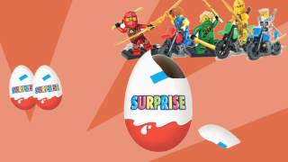 ЛЕГО НИНДЗЯГО. Киндер сюрпризы. Игрушки. /Surprise Eggs ninjago cartoon toy