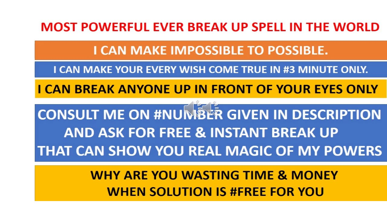 Free Online Break Up Spells- Magical Results in #3 Minutes Only
