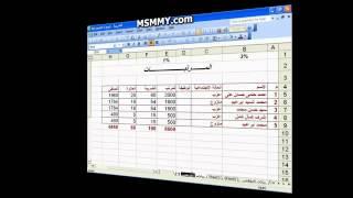 دورة شامله فى برنامج (Excel 2003) ..  باللغه العربيه