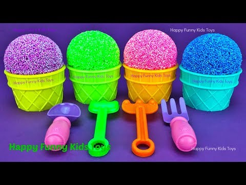 Play Foam Ice Cream Cups Surprise Eggs Trolls Zuru 5 Surprise Toys