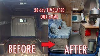 20 day TIMELAPSE VANLIFE / van conversion CITROEN JUMPER /diy /How to build camper van/car home