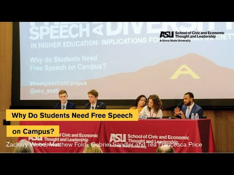 """""""Why Do Students Need Free Speech on Campus?"""" Student Panel"""