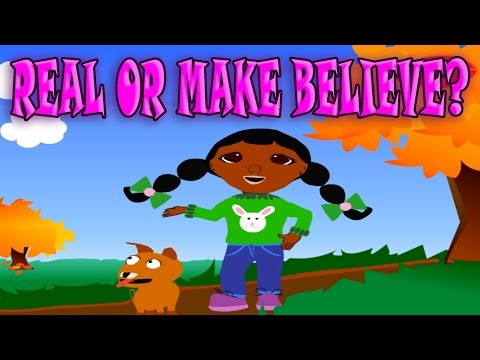Real or Make Believe? Differences Fiction from Non-Fiction, Funny Game for Babies and Kids