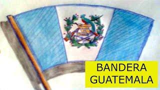 Como dibujar la bandera de guatemala