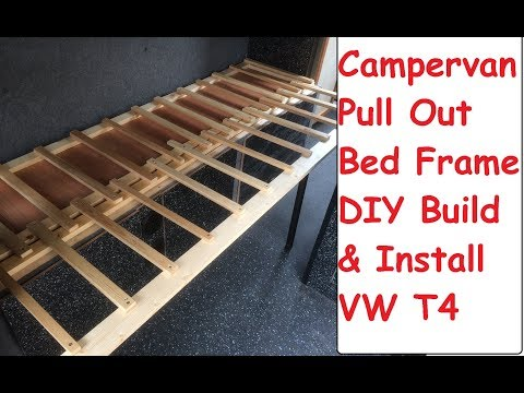 DIY Campervan Pull Out Bed Build & Install Guide VW T4 Camper DIY Sofa Bed Build